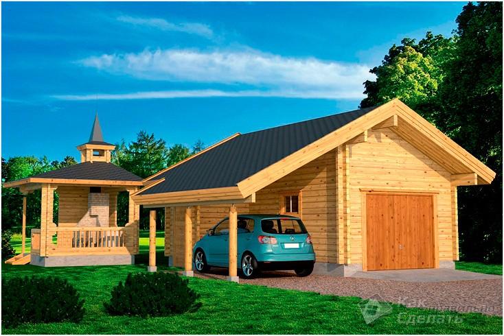 Все просто —  Деревянный гараж своими руками  || STROIM-GRAMOTNO.RU