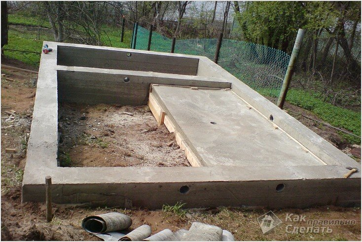 Фундамент для бани 4х4