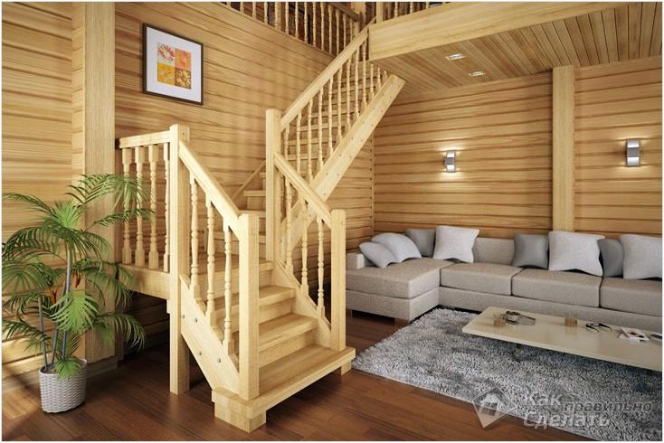 Все просто —  Как сделать деревянную лестницу своими руками  || STROIM-GRAMOTNO.RU