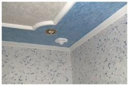 Все просто —  Отделка потолка жидкими обоями  || STROIM-GRAMOTNO.RU