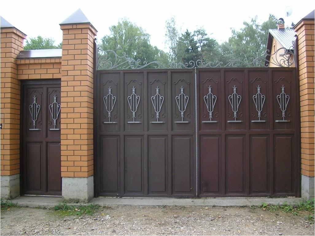 Все просто —  Как сделать металлическую калитку и ворота: схема калитки  || STROIM-GRAMOTNO.RU