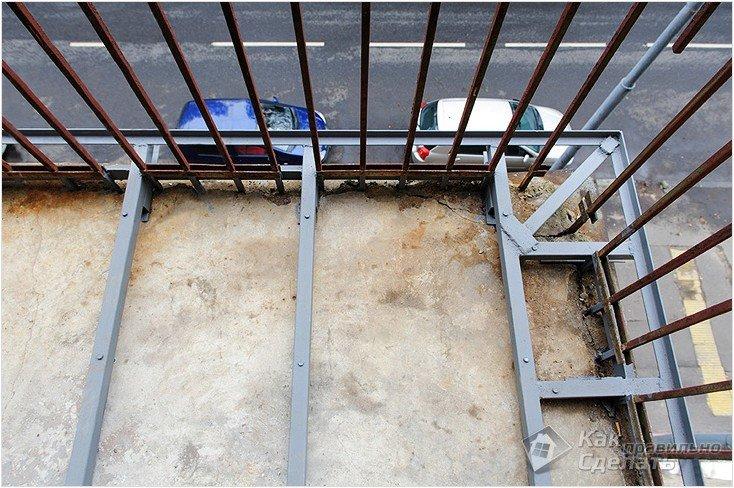 Балкон выносом своими руками фото