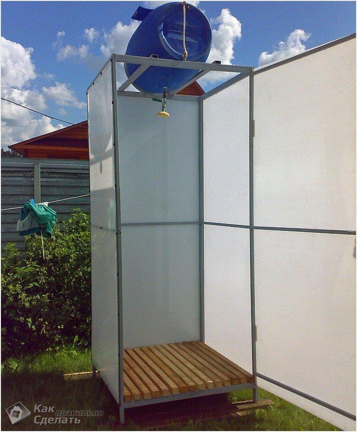 Летний душ своими руками на даче: 27 фото постройки 18