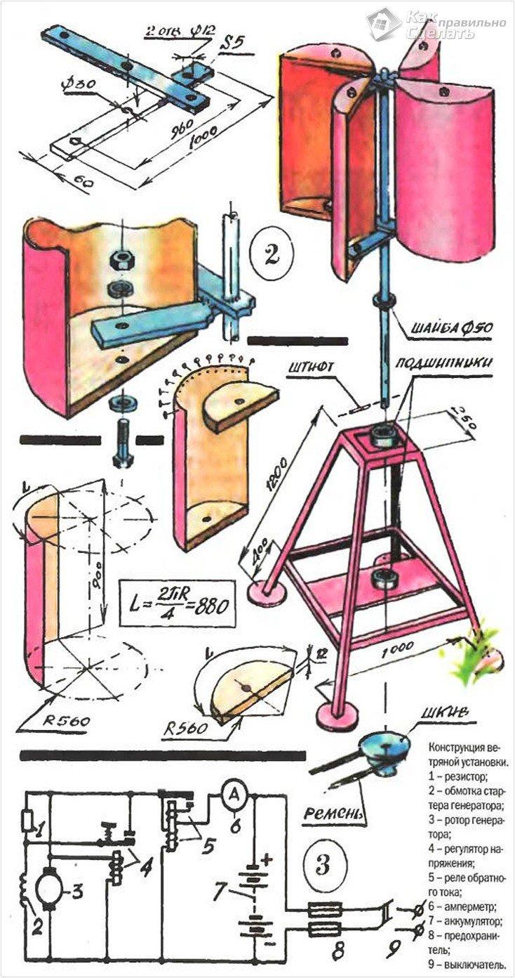 Как сделать ветряк в домашних условиях своими руками 43
