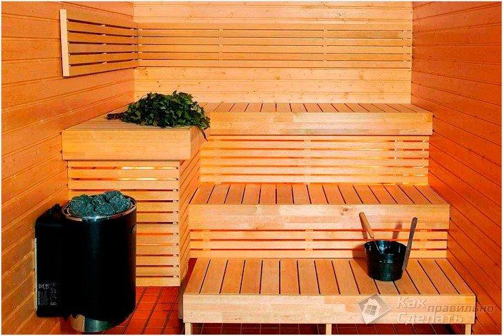 Пошаговые фото отделки бани